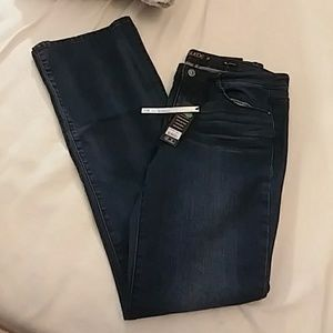 Suede Mid Rise Boot Cut Jeans Size 30